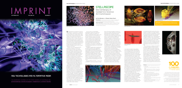 IMPRINT Article, 'StellrScope' by Eleanor Gates-Stuart & Clive Barstow