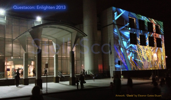 Artwork by Eleanor Gates-Stuart on Questacon as Part of Enlighten 2013