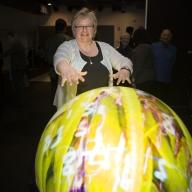 Artist, Eleanor Gates-Stuart with a StellrLumé Dome