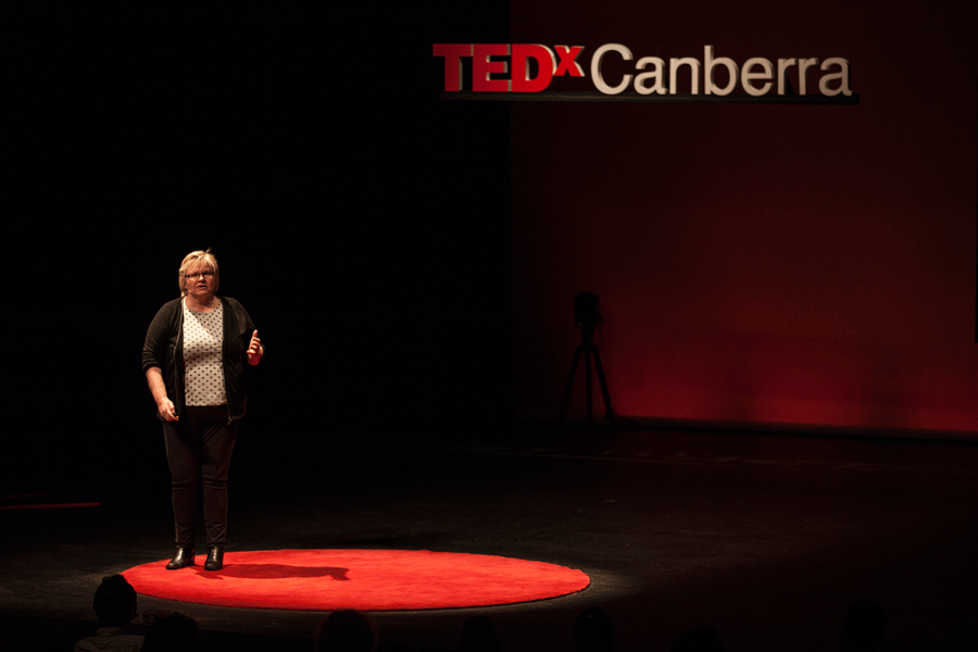 Eleanor Gates-Stuart presenting at TEDXCanberra