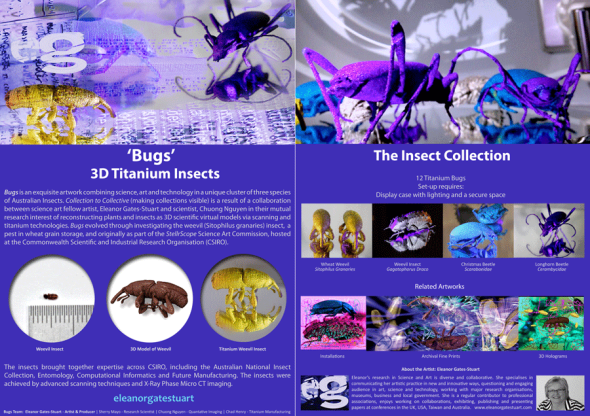 Weevils: Titanium Insects by Eleanor Gates-Stuart